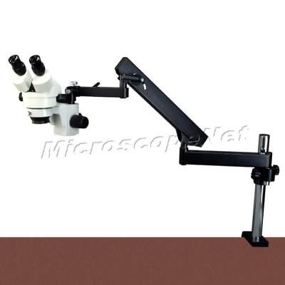 7X-45X Zoom Stereo Microscope+Articulating Arm Stand+150W Dual Heads Cold Light