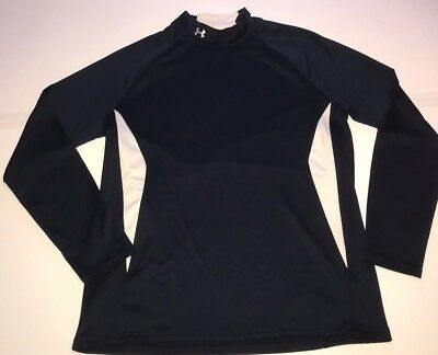 Under Armour Mens Long Sleeve Turtle Neck Shirt Cold Gear Fitted 2XL XXL