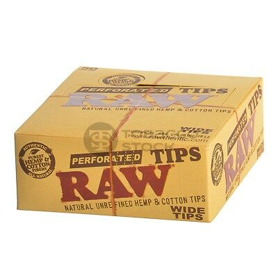 Raw Perforated Wide Smoking Filter Tips Roach -- Natural Unrefined Hemp & Cotton