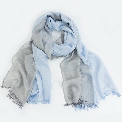 Women's Spring Summer Wrap Soft Shawl Cotton Linen Scarf Breathable Beach Stole