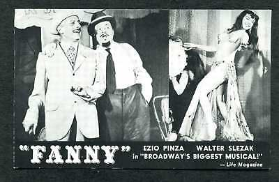 Old Advertising Pc Musical Fanny With Ezio Pinza Majestic Theatre Ny
