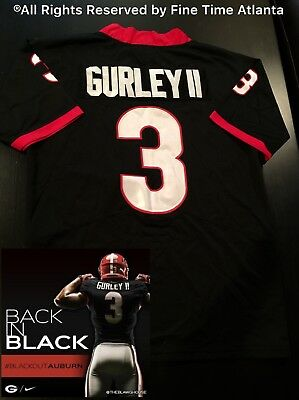 huge selection of bb848 ca8cb NEW TODD GURLEY II Georgia Bulldogs UGA Men's Black Out Jersey Fromm Donald  Rams