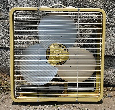 "Vintage Eskimo 17"" box Fan All Metal 1 Speed"