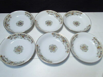 6 Vintage Heinrich China Berry Bowls  ~~ Gorgeous ~ unknown pattern