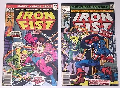 Iron Fist Lot of 2  ( 7 & 12 ) Original Series . BIG Sale