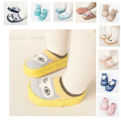Indoor Slippers For Kids Boy And Girl Beautiful Non Slip Moccasins Thick Socks