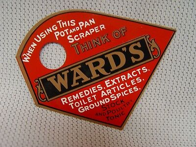 Ward's Remedies Extracts Spices Tin Metal Advertising Pot And Pan Scraper Tool