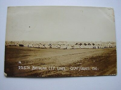 Canada WW1 CEF Military Postcard The 226th Battalion Lines Camp Hughes 1916