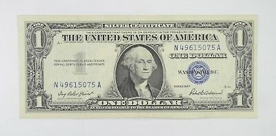 Crisp 1957 $1.00 Silver Certificate United States Dollar Currency Note *900