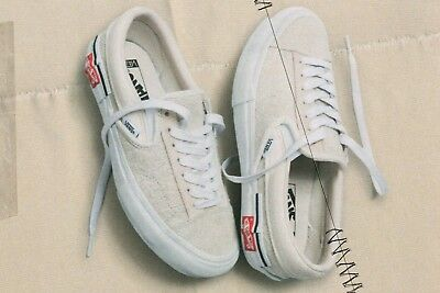 """Size 12 Vans Deconstructed """"Inside Out"""" Sk8 Cap LX Slip-on Marshmallow White"""