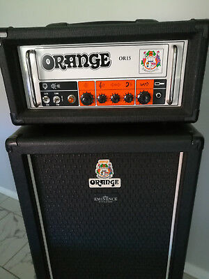 ORANGE OR15 guitar amp and custom 2x12 cab.. amplifier and cabinet