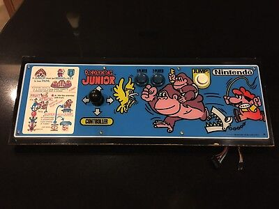Original Donkey Kong Jr. Control Panel Complete With Wiring Harness
