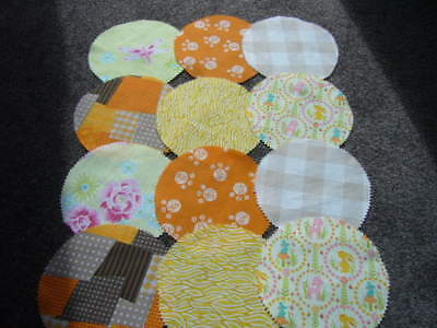 Grannys Fabric Jar Lid Covers For Your Home Made Preserves Pickles Jam X 12