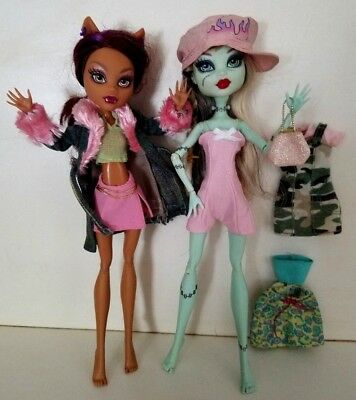 FREE SHIP! Monster High Girl DOLL CLOTHES 4 Outfits 3 TOPS 2 SKIRTS DRESS ROMPER