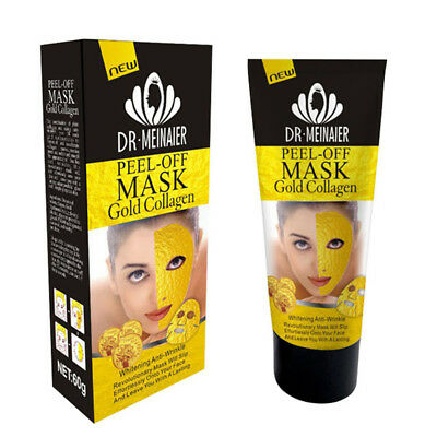 24K Gold Collagen Facial Face Mask Deep Moisture Anti Aging Remover Wrinkle
