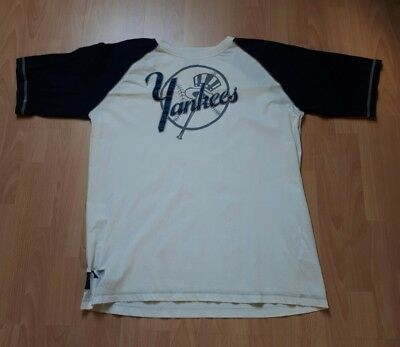 New York Yankees MLB Baseball T Shirt Cooperstown Collection Größe XXL in Weis