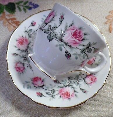 """majestic Choice"" Footed Cup & Saucer Fine Bone China Staffordshire England"