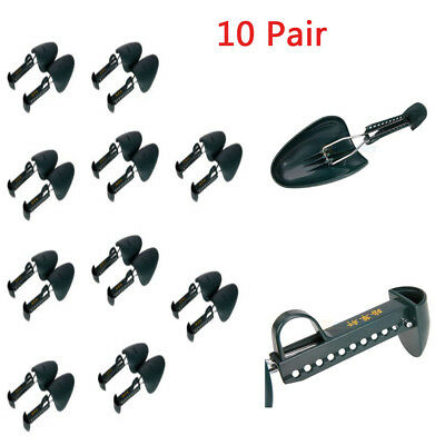 10 Pair Adjustable Form Plastic Shoe Tree Men Boot Shoe Stretcher Size 5.5-11.5