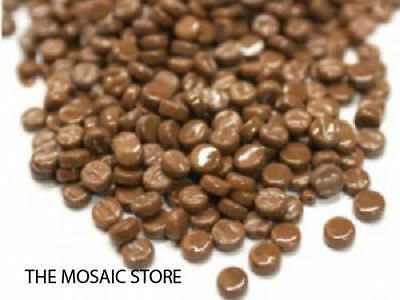 Coffee Brown Glass Dots / Round / Circles  - Mosaic Tiles Supplies Art Craft