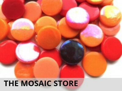 Mixed Red Large Glass Dots | Mosaic Tiles Supplies Art Craft