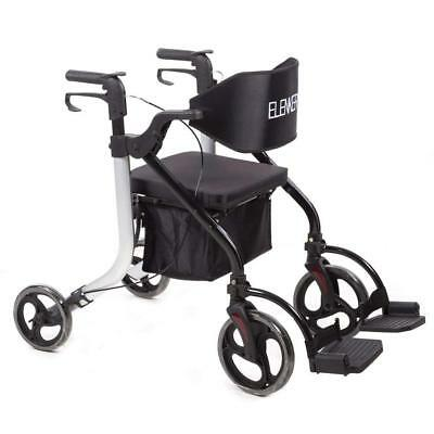 ELENKER Folding Rollator Walker Compact Rolling Walker with Seat and Bag Medical