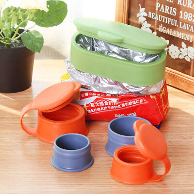 Silicone Magic Keeping Sealer Clamp Pour Food Storage Bag Clip Snack Sealing S-L