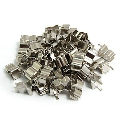 50Pcs Electronic Glass Fuse Tube Clip Clamp for 6 x 30mm Fuse Q1A5