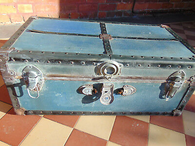 Large Wooden Trunk For Storage Or Coffee Table