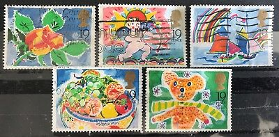 1989 Gb Greetings Booklet Stamps Cat £25 Sg 1423 1427