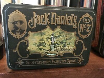 Jack Daniels Gentlemen's Playing Cards Old No.7 2 Decks In Collectors Tin