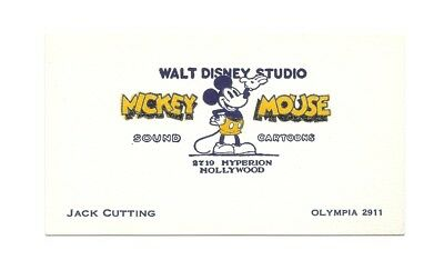 1930s original walt disney sound cartoons artist jack cuttings 1930s original walt disney sound cartoons artist jack cuttings business card colourmoves