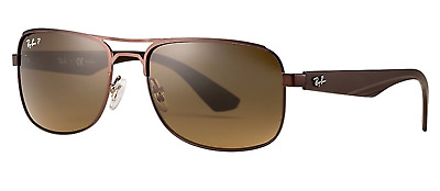 c9f8564c12 Authentic RAY-BAN RB3524 - 012 83 Sunglasses Brown Polarized  NEW  57mm