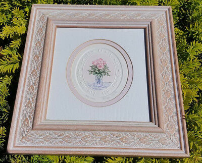 Etching picture painting art of Pale Roses By Philippa Whittle birthday gift