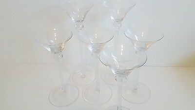 Vintage Martini Glasses ~ Lot of 6