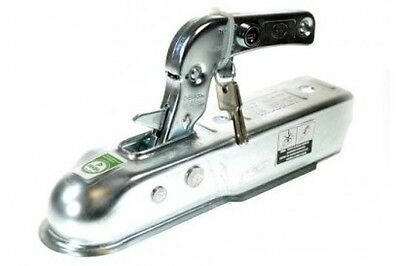 Trailer 50mm Unbraked 750kg Pressed Steel Coupling Hitch with Integral Lock