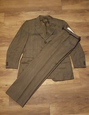 Vintage Hepworths Hardy Amies Golden Talisman Tweed Suit - W34 L32 - Jacket 46R