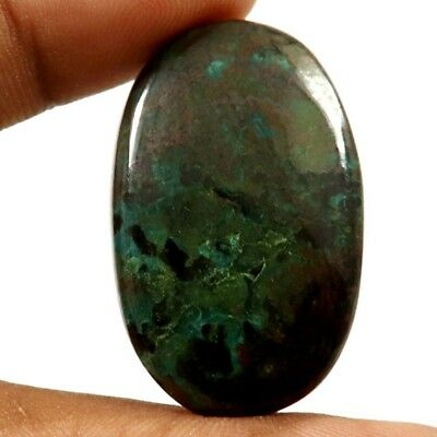 45.05 cts 100% Natural Designer Iron Azurite Gemstone Oval Shape Loose Cabochon