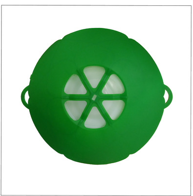 Multi-Purpose Silicone Pan Lid Cover, Spill Proof Cover - Green