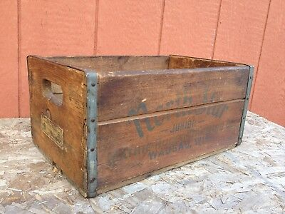 Old Mathie Ruder Brewing Wausau Wisconsin North Star Beer Wooden Crate Box