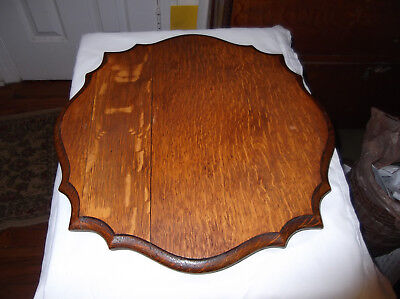 Salvaged Part:  Fancy Solid Oak Top for an Antique Stand
