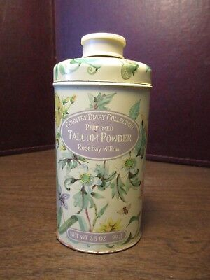 Vintage Perfumed Talcum Powder Tin - Country Diary Collection - ROSE BAY WILLOW