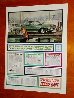 Jazzy 1962 Dodge Dart Coupe In Green Vintage Ad - American Classic Mopar 60S