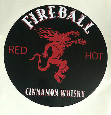 "Fireball Cinnamon Whisky - 24"" Round Metal Sign"