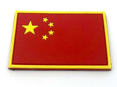 China Chinesisch Flagge Airsoft Patch PVC Morale Klett Abzeichen