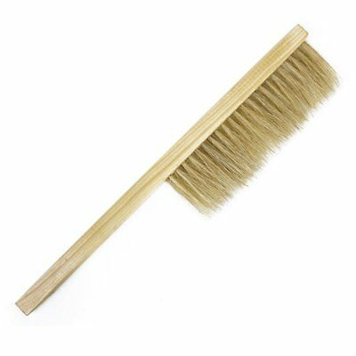 3X(Pig Bristles Beekeeping Bee Brush with Wooden Handle Beekeepers Hive Too E7D1