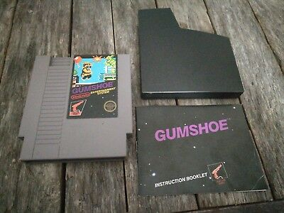 Gumshoe - NES 5 SCREW CART W/MANUAL GREAT LABELS - Nintendo sleeve