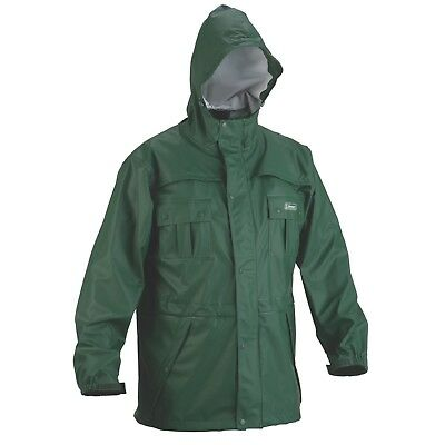 Coleman PVC/Polyester Rain Jacket Mens Large Green
