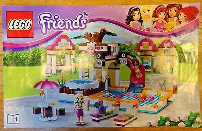 Lego Friends Heartlake City Pool 41008 Instructions Included 100