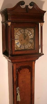 "Antique  Slim Oak Brass 10"" Dial, ""poulton""    Longcase / Grandfather Clock"