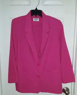 Alfred Dunner Petite Cotton blend Blazer Size 14 Petite Hot Pink